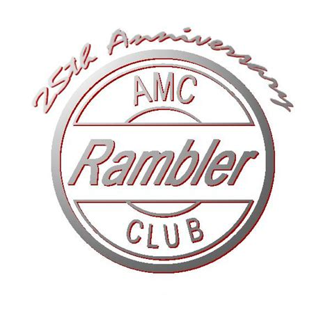 rambler car logo national amc rambler car club