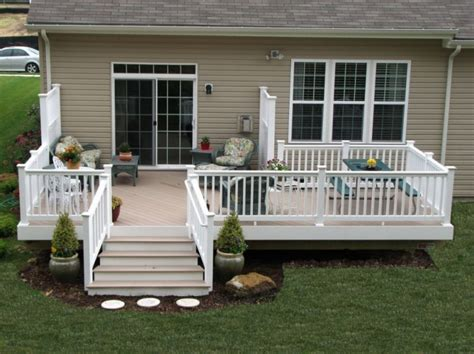 vinyl railing posts caps best railing vinyl pictures of decks for mobile homes with wood and granite tones