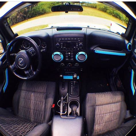 jeep wrangler  tiffany blue accents  jeeps