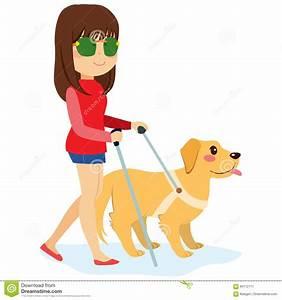 Blind Dog Stock Illustrations  U2013 672 Blind Dog Stock