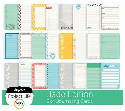 Jade Cards Journaling Edition 3x4 Digital Project