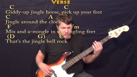 jingle bell rock guitar cover jingle bell rock bass guitar cover lesson in c with