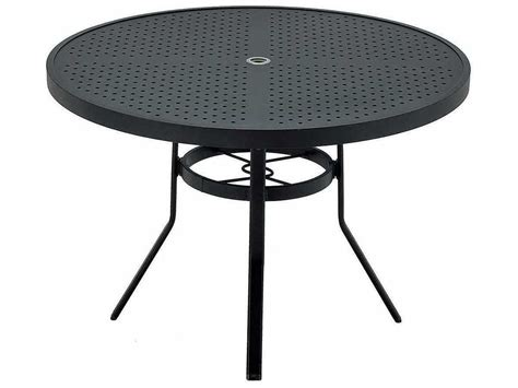 round metal outdoor table winston sted aluminum 48 39 39 round metal dining table