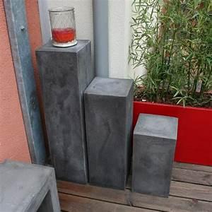 colonne beton decoratif veglixcom les dernieres idees With carrelage adhesif salle de bain avec table basse lumineuse led