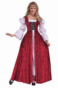 RENAISSANCE MAIDEN FANCY DRESS COSTUME MEDIEVAL ADULT LADIES TUDOR QUEEN OUTFIT