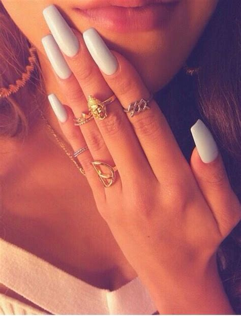 top  beautiful white acrylic nails