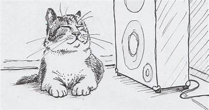 Cats Listening Drawing Cat Things Humans Thing