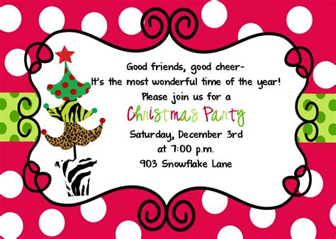 christmas invite ryhmes family invitations rhymes