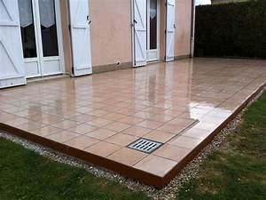 carrelage de terrasse With comment faire une terrasse en carrelage