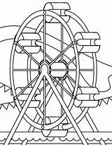 Wheel Ferris Coloring Printable Getcolorings Pages sketch template