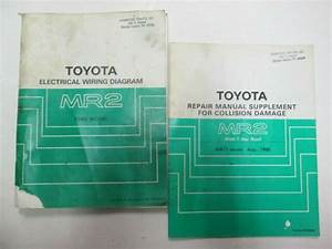 1986 Toyota Mr2 Electrical Wiring  U0026 Repair Supplement For