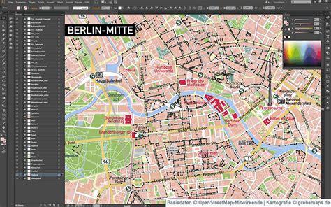 berlin mitte stadtplan vektorkarte grebemaps kartographie
