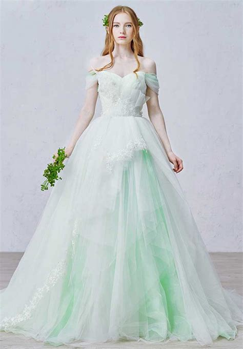 wedding dress with color what s the meaning of blue green or pink in colored