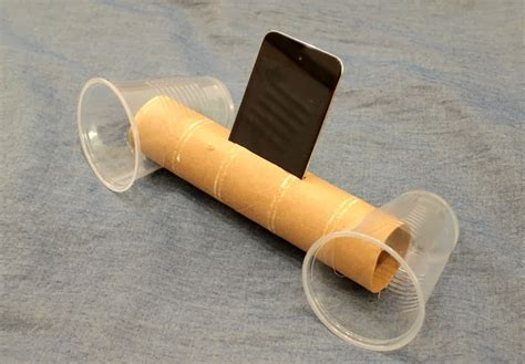 diy ipod speakers  cardboard roll  cups pink