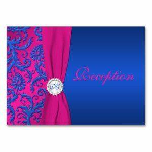 Images of royal blue and hot pink wedding invitations for Royal blue and fuchsia wedding invitations