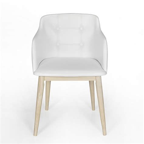 chaises séjour chaise de séjour capitonnée blanche cork consoles