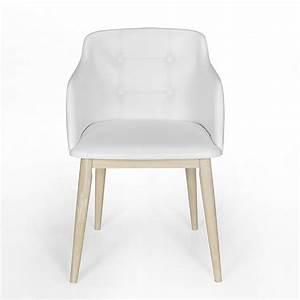 Chaise De Sejour : chaise de s jour capitonn e blanche cork consoles tables chaises chaises tabourets ~ Teatrodelosmanantiales.com Idées de Décoration