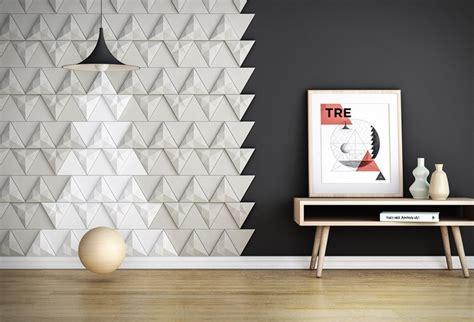 tendance chambre à coucher carrelage 3d modulable pour donner du relief aux murs