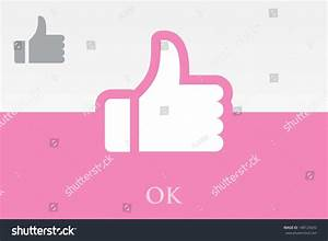 Ok. Thumb Up Sign Stock Vector Illustration 148125692 ...
