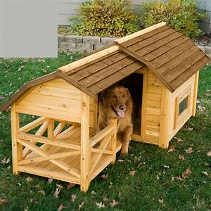 Hot dog outside spruce up your pet39s dog house this july for Large dog house with porch