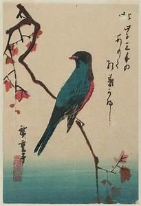 Utagawa Hiroshige: Bird on Maple Branch - Museum of Fine ...