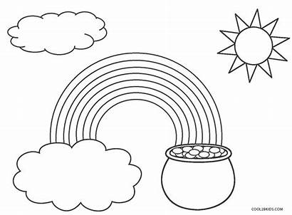 Rainbow Coloring Pages Printable Sheet St Patricks