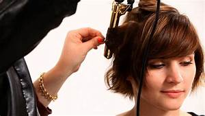 Curling Short Hair With Flat Iron Hairstyle For Women Man