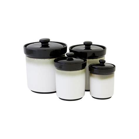 sango nova black  pc kitchen canister set kitchen
