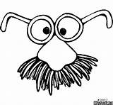 Mustache Coloring Pages Getcolorings Baby sketch template