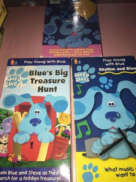 blues clues vhs lot of 3 all steve episodes play along birthday discoveri 97368358331 ebay