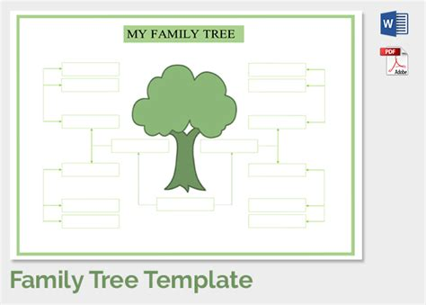 Blank Family Tree Template For Kids Costumepartyrun