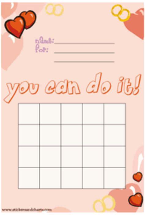 valentines day reward charts  kids