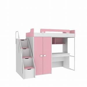 Schreibtisch Mit Schrank : hochbett mit schreibtisch und schrank ida ~ Buech-reservation.com Haus und Dekorationen