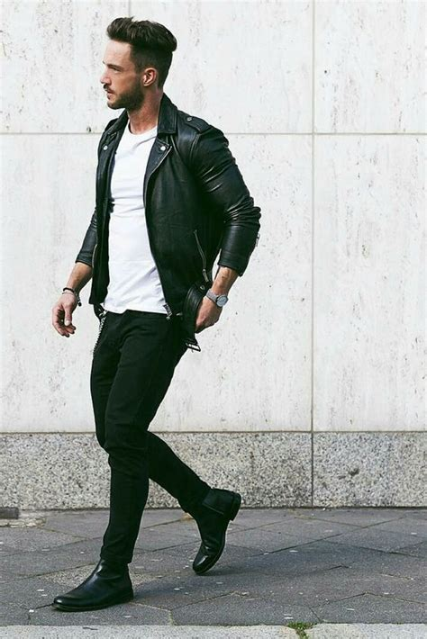 Picture Of all black look with a white tee