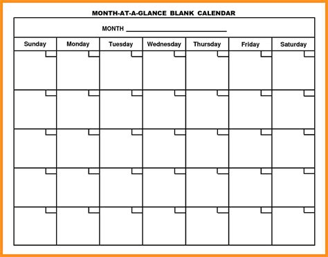 Blank Calendar Template Monday Through Friday Costumepartyrun