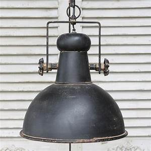 Black retro industrial style ceiling light fitting rustic