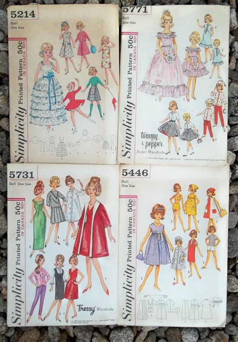 vintage collector barbie doll clothes patterns  patternjones