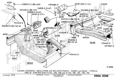 1975 F100 302 Engine Diagram by Ford Truck Part Numbers Engine Supports Fordification