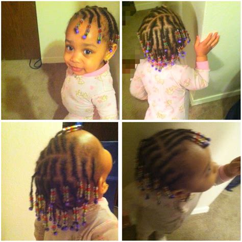 braids with beads babies kids hairstyle natural hair