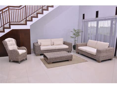canapé plus fauteuil canapé et fauteuil en rotin tressé et tissu hevea