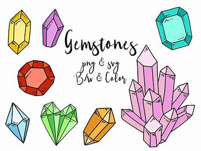 Clip Clipart Doodles Crystal Gem Vector