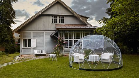 garden igloo designed both as a winter garden and a summer
