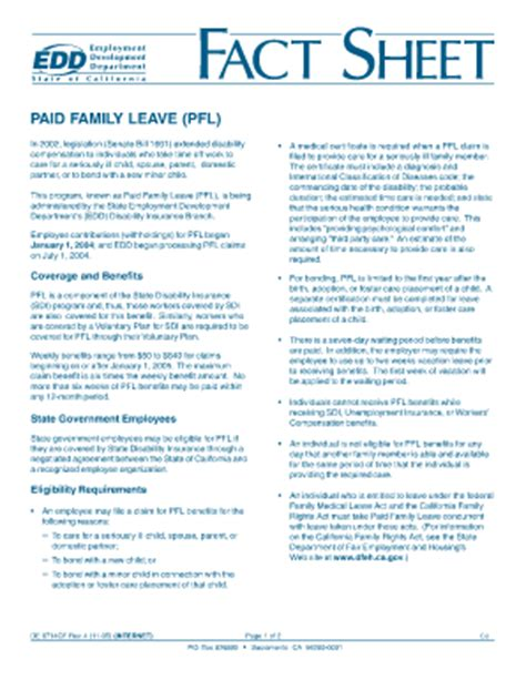 paid family leave claim form pfl form for download fill online printable fillable