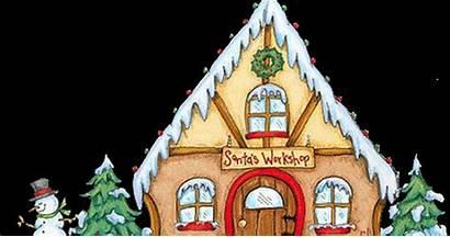 Workshop Clipart Santa Santas Gingerbread Claus Clip