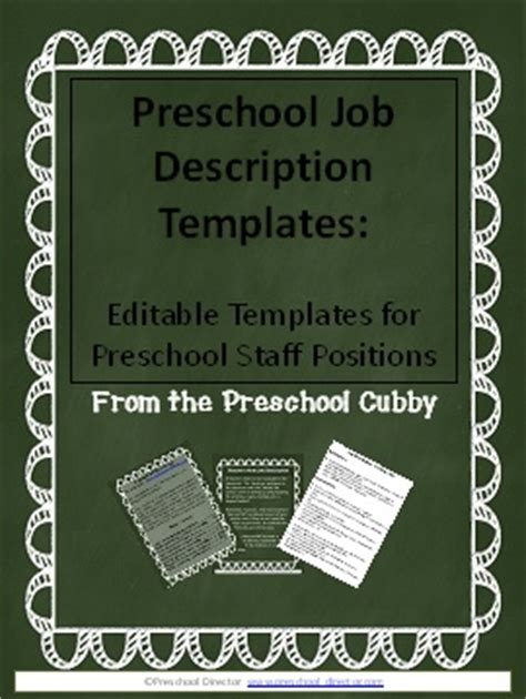 how to develop your own preschool staff handbook 942 | jobdescriptionscover