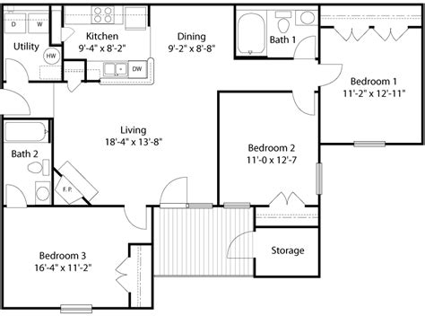 Living Room Plan Size by Average Size Bedroom Spaces In New Homes Glade Creek