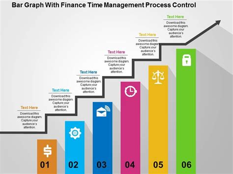 powerpoint graph templates bar graph with finance time management process flat powerpoint design powerpoint slide
