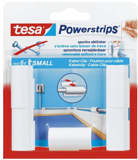 tesa powerstrips 5 kg tesa 58035 tesa 174 powerstrips 174 cable clip 5 pieces at reichelt elektronik