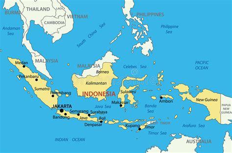 republic  indonesia vector map stock vector