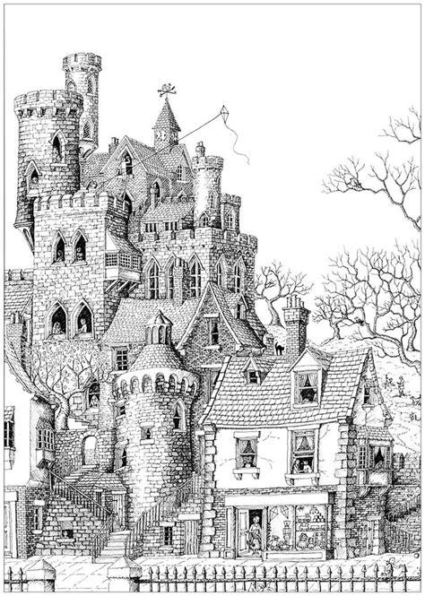 impressive castle   typical village   gallery architecture living dessin
